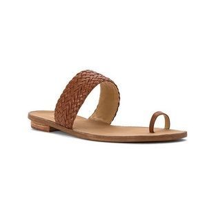Michael Kors Braided Leather Toe Ring Thong Sandal